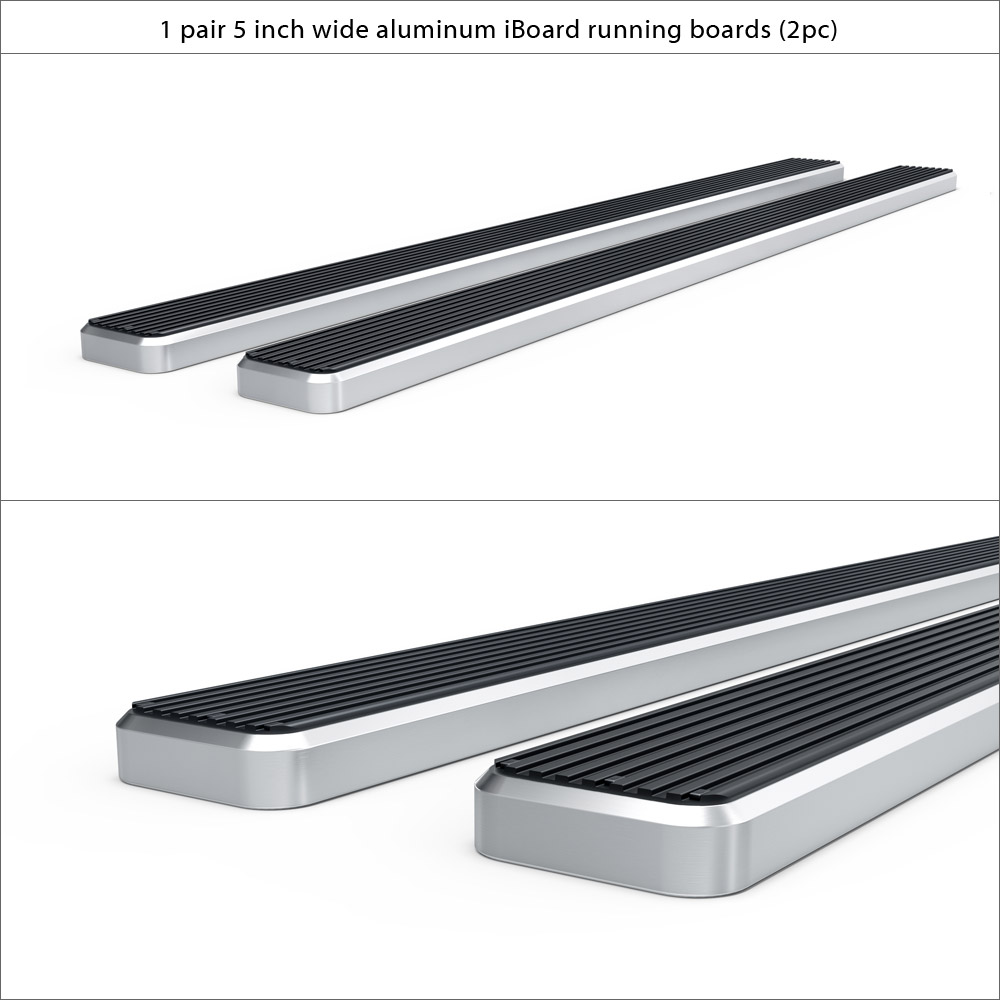5 iboard running boards fit 99 13 chevy silverado gmc. Black Bedroom Furniture Sets. Home Design Ideas