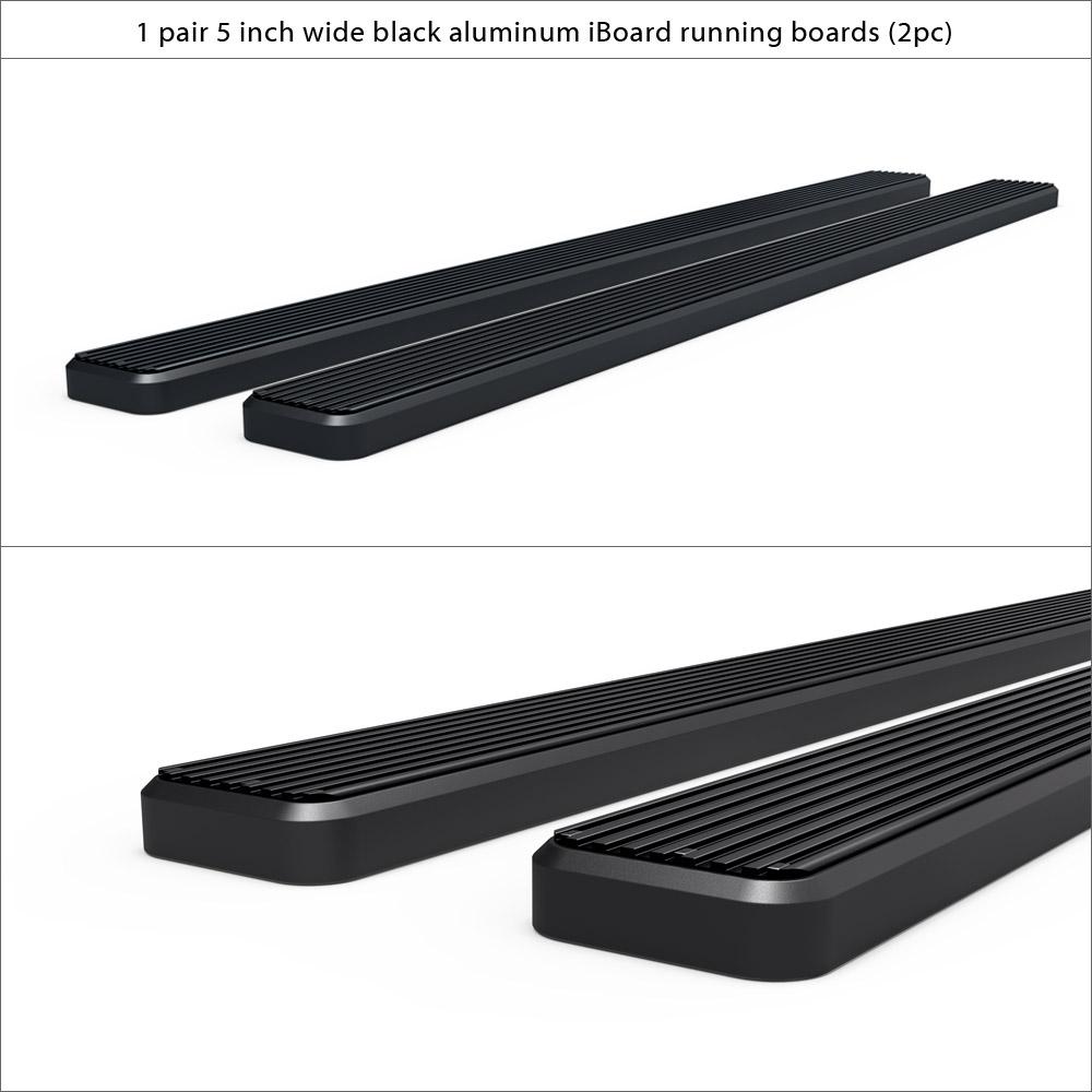 matte black 5 iboard running boards fit 95 04 toyota. Black Bedroom Furniture Sets. Home Design Ideas