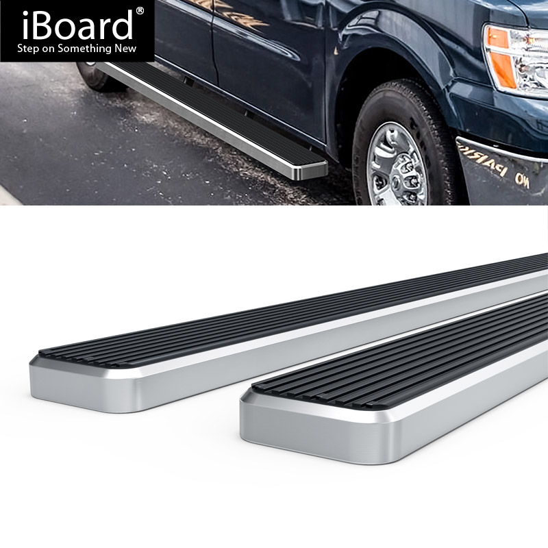 Running Board Side Step 5in Silver Fit Nissan NV 1500/2500